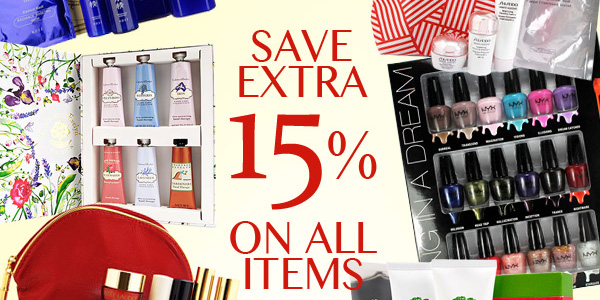 Extra 15% OFF All items @ COSME-DE.COM